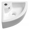 GYNT umywalka ceramiczna narożna 33x13x33 cm