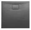ACORA brodzik kompozytowy, kwadrat 80x80x3,5cm, szary, dekor kamień
