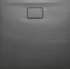 ACORA brodzik kompozytowy, kwadrat 90x90x3,5cm, szary, dekor kamień