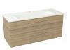 PURA szafka umywalkowa, 2x szuflada117x50,5x48,3cm, dąb starmood