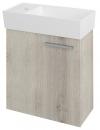 LATUS IX szafka umywalkowa 44x50x22cm, dąb Mocca