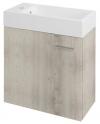 LATUS IV szafka umywalkowa 49,5x50x24,5 cm, dąb Mocca