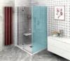 FORTIS LINE drzwi prysznicowe wnękowe 900mm, szkło czyste, lewe