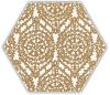 Shiny Lines Gold Heksagon Inserto A 19,8X17,1 Class 1