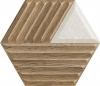 Woodskin Mix Heksagon Struktura Matowa C Ściana 19,8X17,1 Gat.1