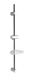 Drążek prysznicowy z mydelniczką, 810mm, chrom