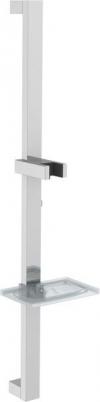 Drążek prysznicowy z mydelniczką, 680mm, chrom