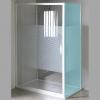 ETERNO drzwi prysznicowe przesuwne 1100mm, szkło STRIP