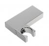 Metalowy uchwyt prysznica, obrotowy, prostokątny, chrom