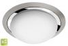 METUJE lampa sufitowa LED 12W, 230V, średnica 28,5cm, chrom/szlifowana stal nier