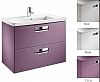 Zestaw łazienkowy KOLOR FIOLET 577  70 (umywalka 70x44cm + szafka pod umywalkę 68x60x41,5cm z 2 szufladami) ROCA