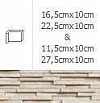 NAROŻNIK WEWNĘTRZNY MODERNO FROST 22,5cmx10cm GAT.1 DO WEW./ZEW.( OP.1,00 MB = 10 SZT.)K.J.INCANA