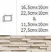 NAROŻNIK WEWNĘTRZNY MODERNO FROST 27,5cmx10cm  GAT.1 DO WEW./ZEW.( OP.1,00 MB = 10 SZT.)K.J.INCANA