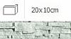 NAROŻNIK ZEWNĘTRZNY ALASKA WANILIA 20 x 10 cm GAT.1 DO WEW./ZEW. ( OP.1,00 MB = 10 SZT.)K.J.INCANA