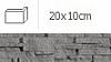 NAROŻNIK ZEWNĘTRZNY ALASKA SZARY 20 x 10 cm GAT.1 DO WEW./ZEW. ( OP.1,00 MB = 10 SZT.)K.J.INCANA