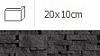 NAROŻNIK ZEWNĘTRZNY ALASKA GRAFIT 20 x 10 cm GAT.1 DO WEW./ZEW. ( OP.1,00 MB = 10 SZT.)K.J.INCANA
