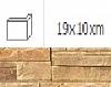 NAROŻNIK ZWENĘTRZNY MONTANA DUNE 19 x 10 cm GAT.1 DO WEW./ZEW. ( OP.1,00 MB = 10 SZT.)K.J.INCANA
